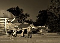 Final checks being made on the Hawker Hurricane.
