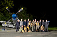 All of our re-enactor friends and ground crew pose next to the North American P-51D Mustang after an excellent shoot.