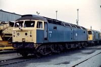 47191 in BR Blue livery at Wigan Springs Branch.