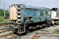 08481 in BR Blue livery at Wigan Springs Branch Junction on an unknown date.