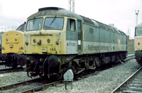47125 in faded Railfreight Distribution livery at Crewe Diesel Depot.