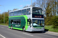 PX55 AHJ | Norfolk Green 18280 on the A17 at Gedney.