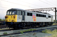 86611 in Railfreight Distribution livery at Garston Speke Terminal,