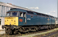 47145 in all over blue livery with the red BR logo's at an unknown location.
