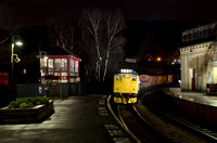 Taken from Platform 3, 25059 arrives at Keighley Station.