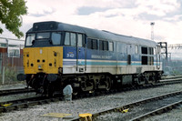 31421 in Regional Railways livery at Crewe Diesel Depot.