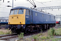 85107 in BR Blue livery at Crewe Basford Hall.