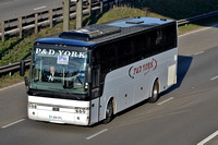Coaches at M6 Junction 4 - 10/03/14