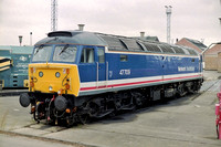 47709 in Network SouthEast livery at Old Oak Common Depot.