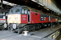 47787 in RES livery at Crewe Diesel Depot.