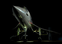 Brooklands Concorde by night.