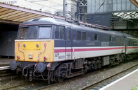 86213 in Intercity Swallow livery at Preston Railway Station.