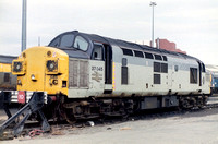 37045 in Railfreight Triple Grey livery at Leeds Holbeck.