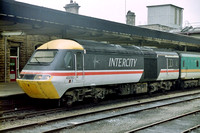 43050 in Intercity Swallow livery at Sheffield Station on a Midland Mainline service.