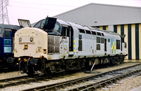 37144 in faded Trainload Construction livery at Loughborough Brush