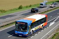 R126 HNK | Stagecoach Cambridge 21166 on the A14 at Hemingford Abbots.