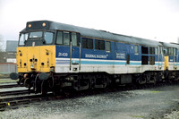 31439 in Regional Railways livery at Warrington Arpley Sidings.